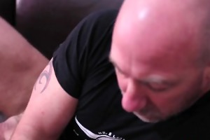 tattood blake has one more jerk off session on a