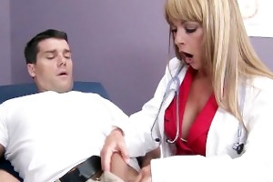 busty big-tit doctor shayla laveaux helps her