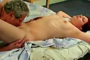 young sweetheart screwed by fat old perv
