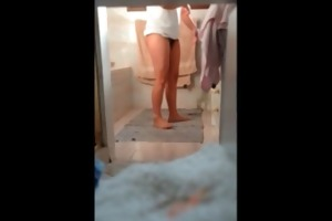 ally sister in shower spy