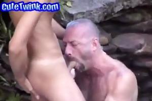 dad lets juvenile chap engulf his prick