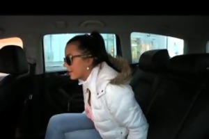 faketaxi hot youthful czech gal sucks pounder to