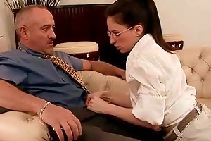 legal age teenager secretary seducing her old boss