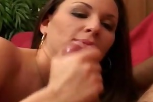 angry dilettante milf makes three-some stud fuck