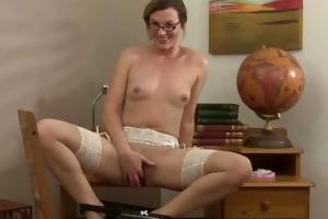 sofia matthews is a sexy teacher getting herself