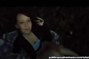 girl sucking jock outdoors