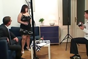 fat bitch is double drilled after photosession