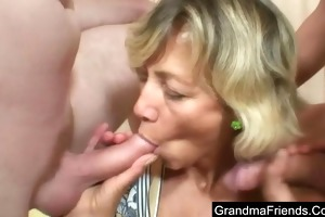 aged lady screwed hard by youthful boys