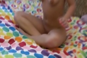 babysitter caught on cam toying her pussy