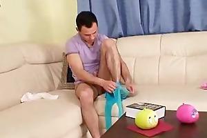 slim teenie nylon hose frigging
