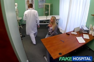 fakehospital dizzy young blond takes a creampie
