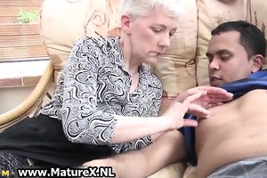 old experienced woman is enjoying