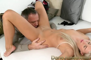 danejones bald golden-haired babe gets cum-hole