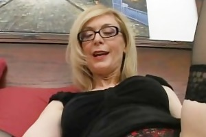 blonde housewife in glasses licking stiff part6