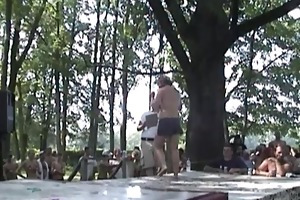 wet t-shirt contest in the woods part 1
