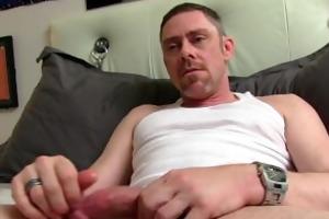mature tucker jerking off his ramrod