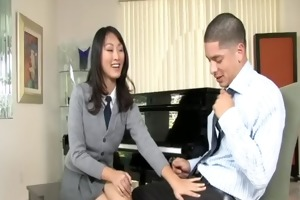 cute asian schoolgirl evelyn lin passionately
