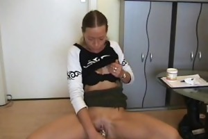 amateur milf toys her pussy, sucks and bonks with