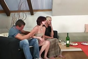 boozed granny seduces her son in law