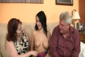 sinless girl is seduceed by granny and fucked by