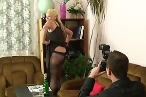 dirty photosession and sex with his old bag