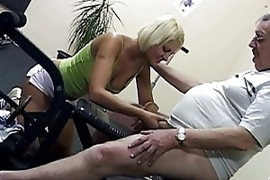hawt blonde vixen shags with filthy old fart