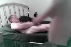 mature grandpa daddy bear plays with younger