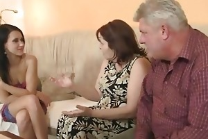 nasty cutie fucking with her bf old parents
