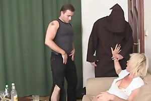 great threesome with hawt mature golden-haired
