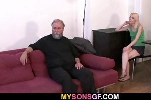 he finds his old daddy fucking his gf