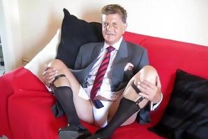 french daddy businessman jerking off