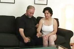 her old hairy twat is toyed and fucked