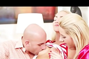 blond euro teen watches a mamma and daddy fuck