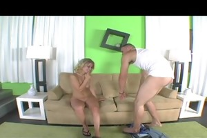 sexy young natural-tit lolita belle fucks on