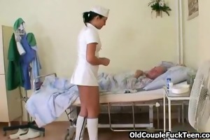 grand-dad fucks hot slutty nurse