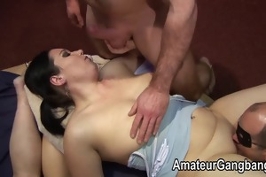 older guys have hot fun with two chicks