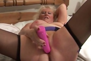 big beautiful woman golden-haired housewife
