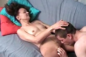 russian mom in hose fucked by a younger guy