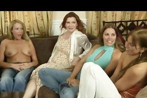 two milf lesbian babes rub snatch til they cum