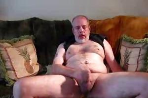 verbal dad strokes and cums
