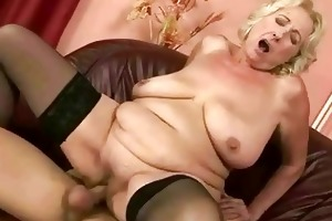 old bitch receives fucked pretty hard