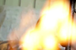 young lesbian using a sex-toy in her solo