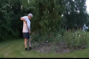 lukcy grandpa fuck in threesome with top hooties