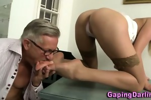 big booty babe sucks jock