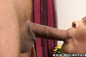 juvenile oral pleasure loving honey cock drooling