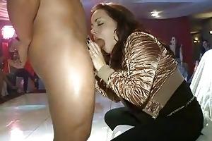 sexy young burnette sucks down