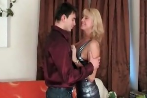 blond vixen drilled by young fellow