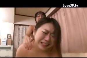 japanese wife gets cum on her melons