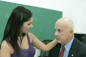 student learns a trick or two from horny old