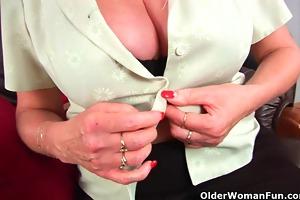 granny with big tits finger fucks her enchanting